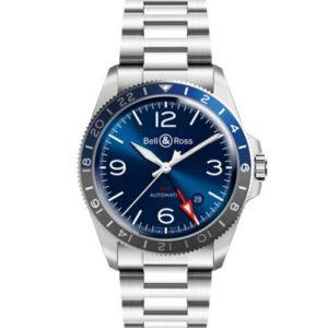 BR V2-93 GMT BLUE Bracelet Steel